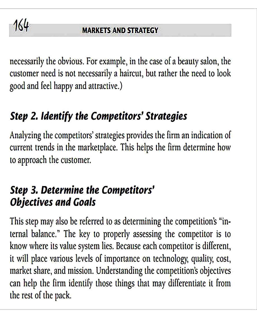 Templates for Basic Competitor Analysis Sample