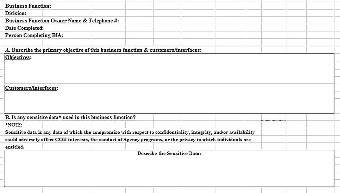Templates for Business Analysiss Sample