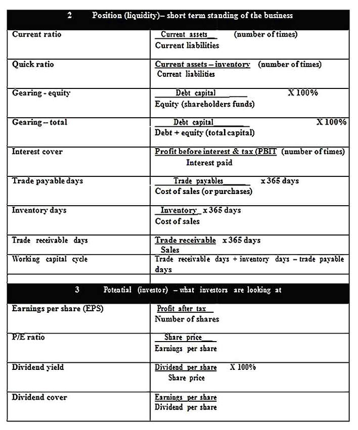 Templates for Business Financial Analysis 2 Sample