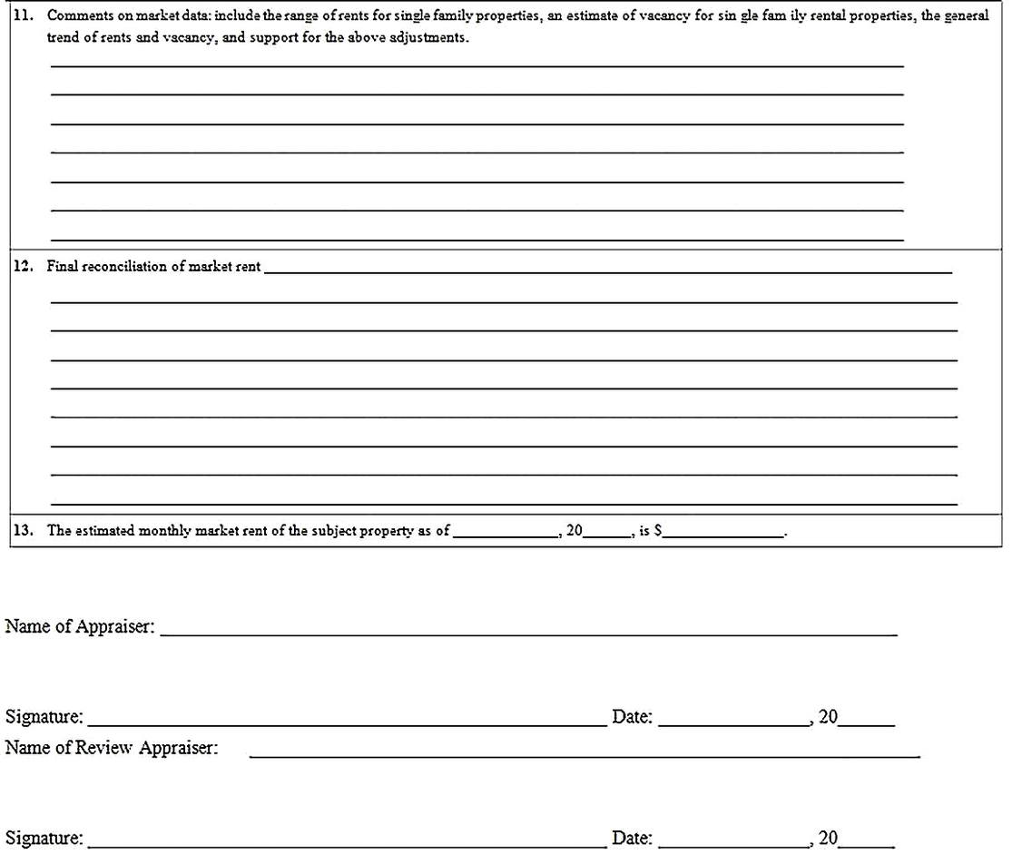 Templates for Comparative Market Analysis to Rent 4 Sample