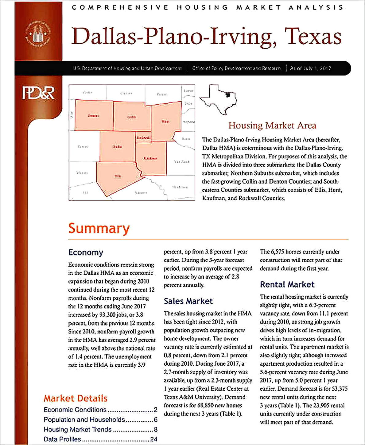 Templates for Comprehensive Housing Market Analysis Sample