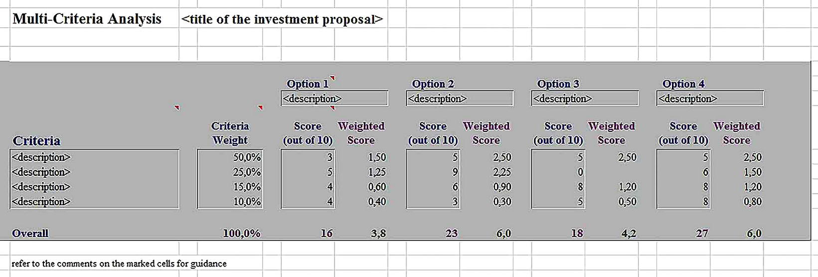 Templates for Cost Benefit Analysis Tool 6 Sample