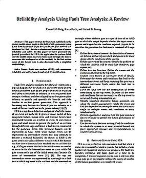 Templates for Fault Tree Analysis Sample 001
