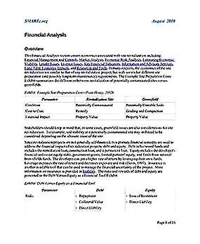 Templates for Financial Analysis Overview 1 Sample