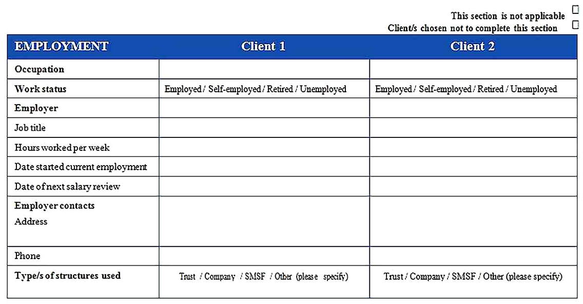 Templates for Financial Needs Analysis 4 Sample Copy