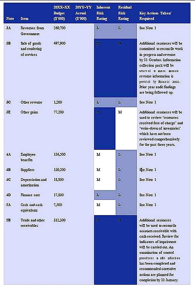 Templates for Financial Statement Risk Analysis 5 Sample