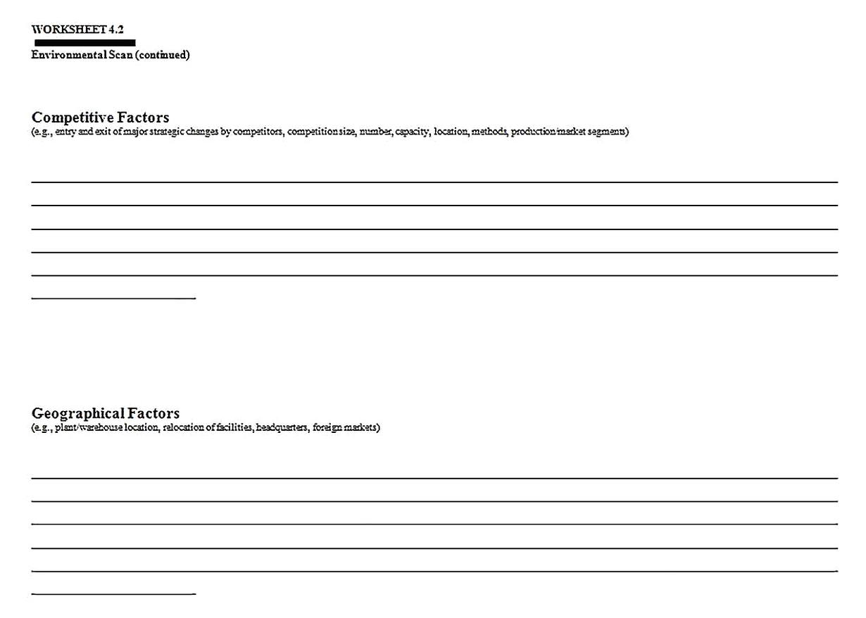 Templates for Industry Situation Analysis 4 Sample