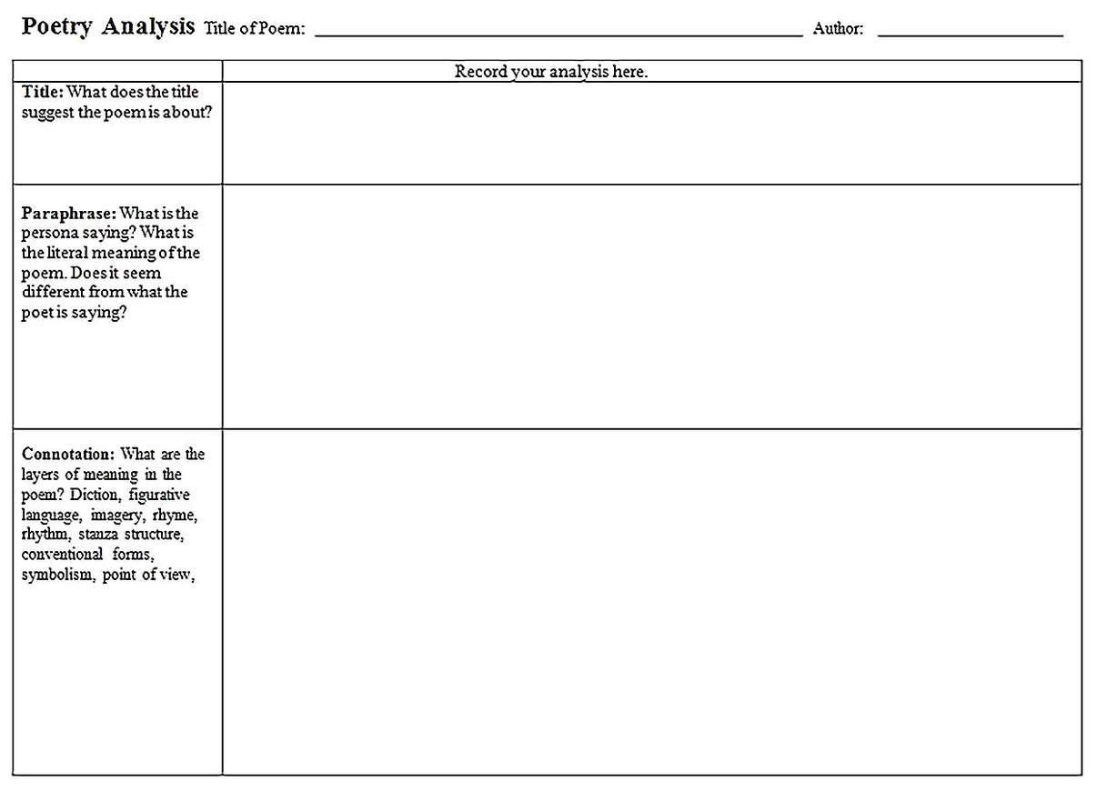 Templates for Poetry Analysis Sample 001