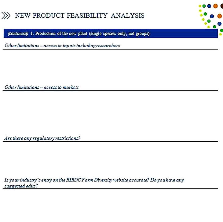 Templates for Product Feasibility Analysis 2 Sample