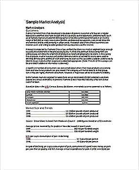 Templates for Product Market Analysis in DOC Sample