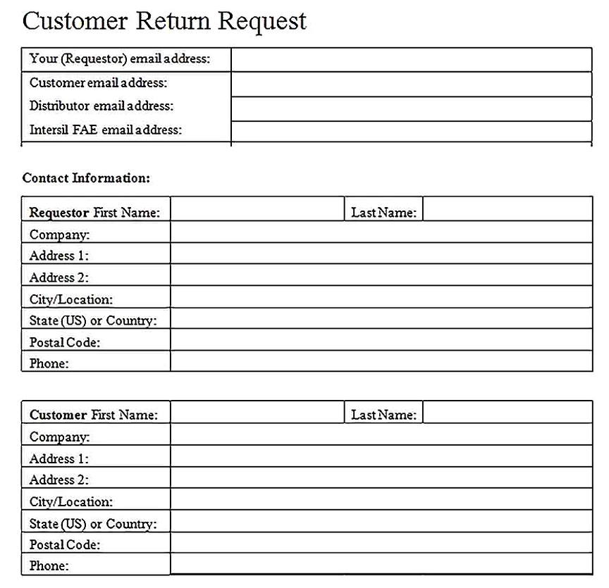 Templates for Quality Failure Analysis Request Form Sample