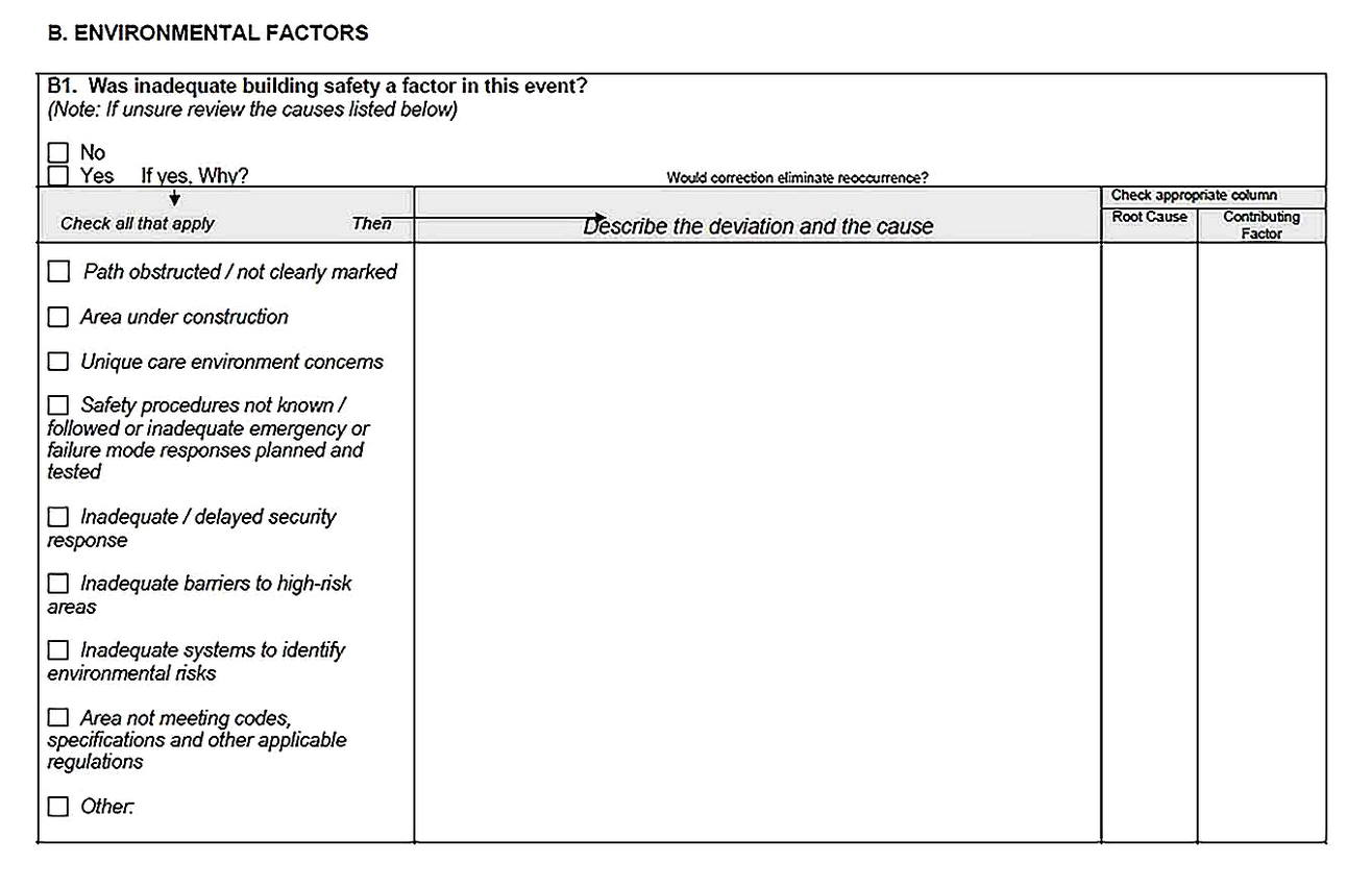 Templates for Root Cause Analysis Meeting Printable5 Sample