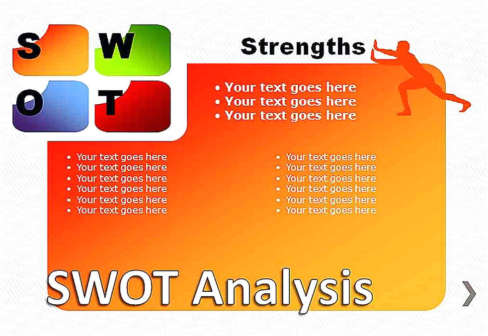 Templates for SWOT Analysis Pie Chart 2 Sample