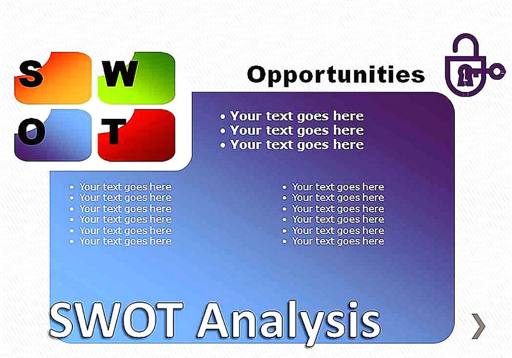 Templates for SWOT Analysis Pie Chart 4 Sample