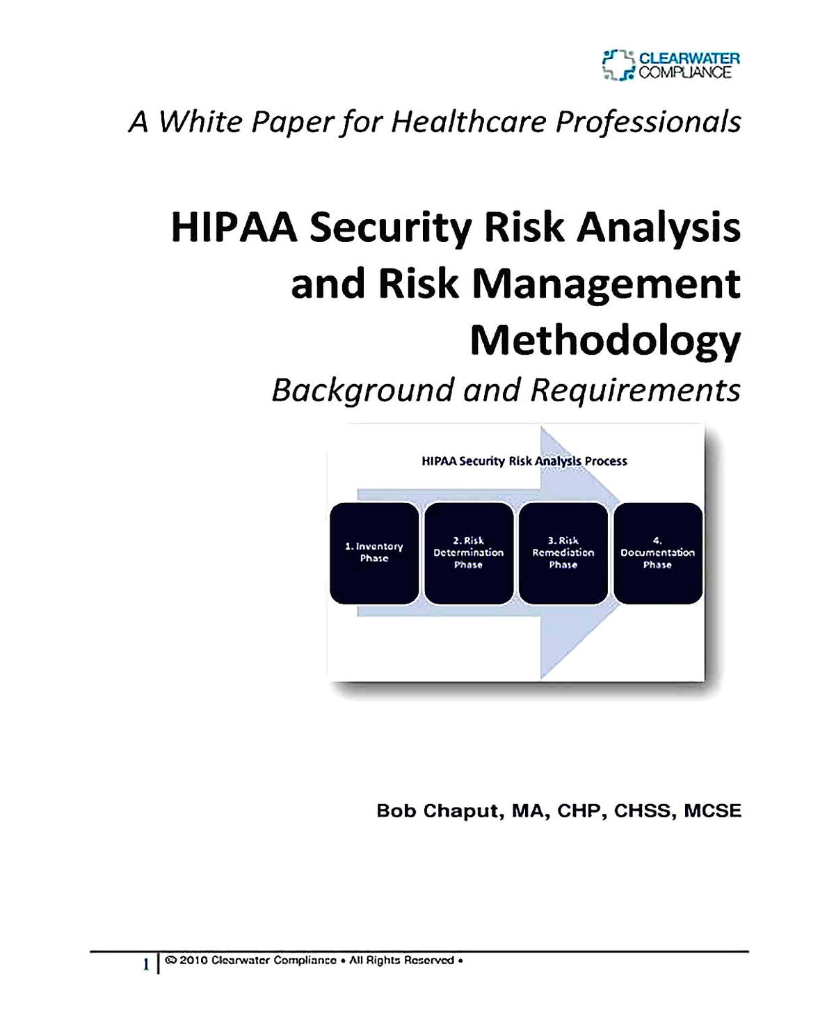 Templates for Simple HIPAA Security Risk Analysis 01 Sample