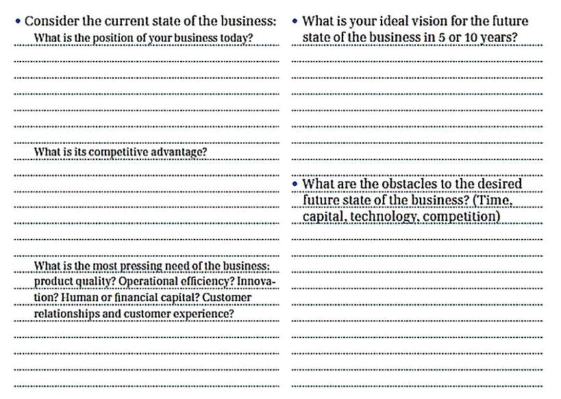 Templates for Small Business Needs Analysis2 Sample