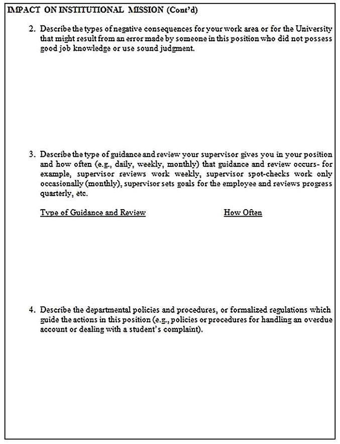 Templates for job analysis questionnaire 5 Sample
