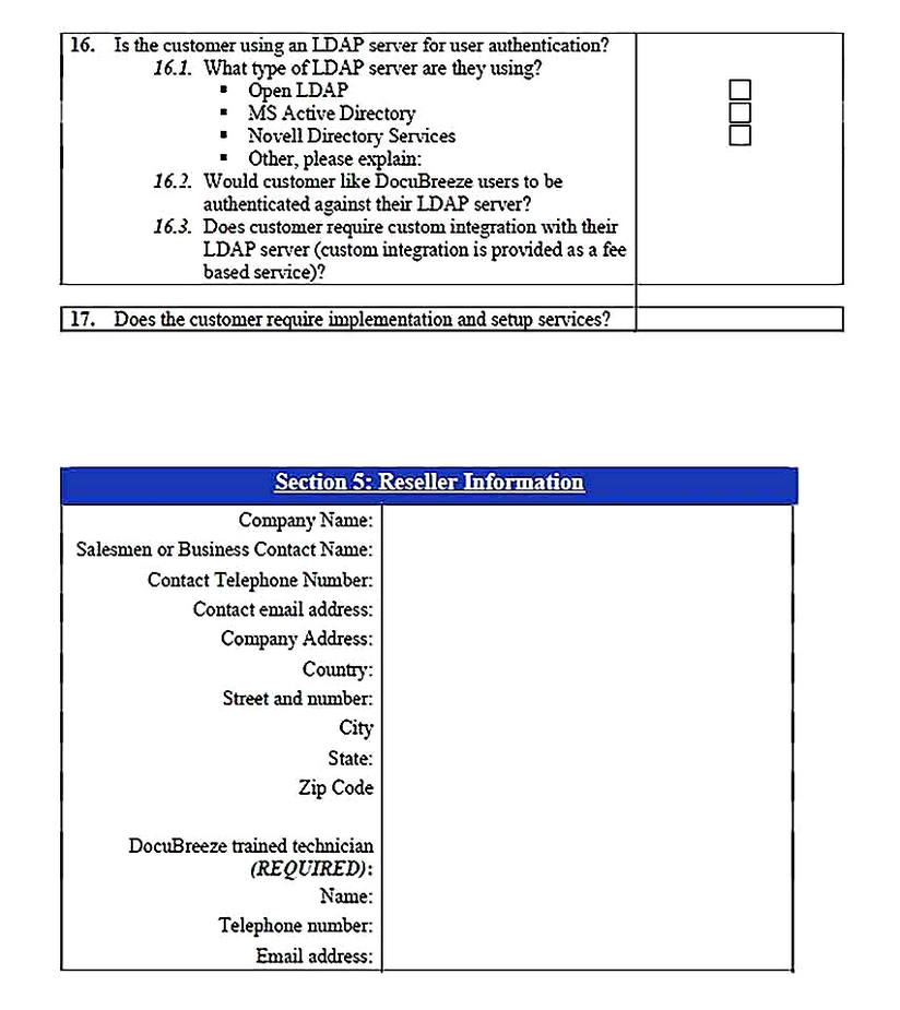 Templates for of Business Needs Analysis 5 Sample