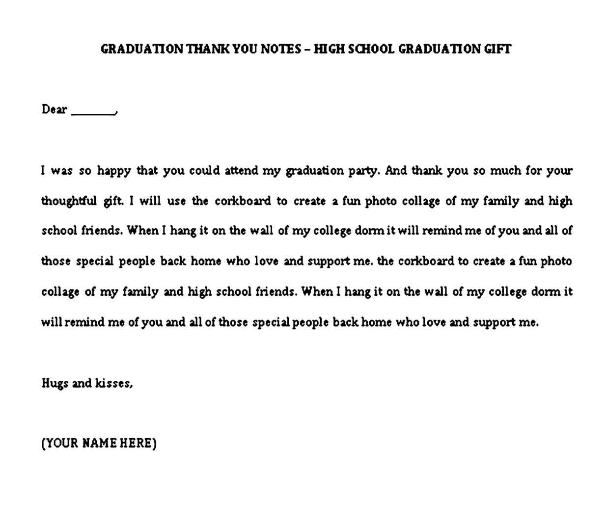 best graduation thank you note