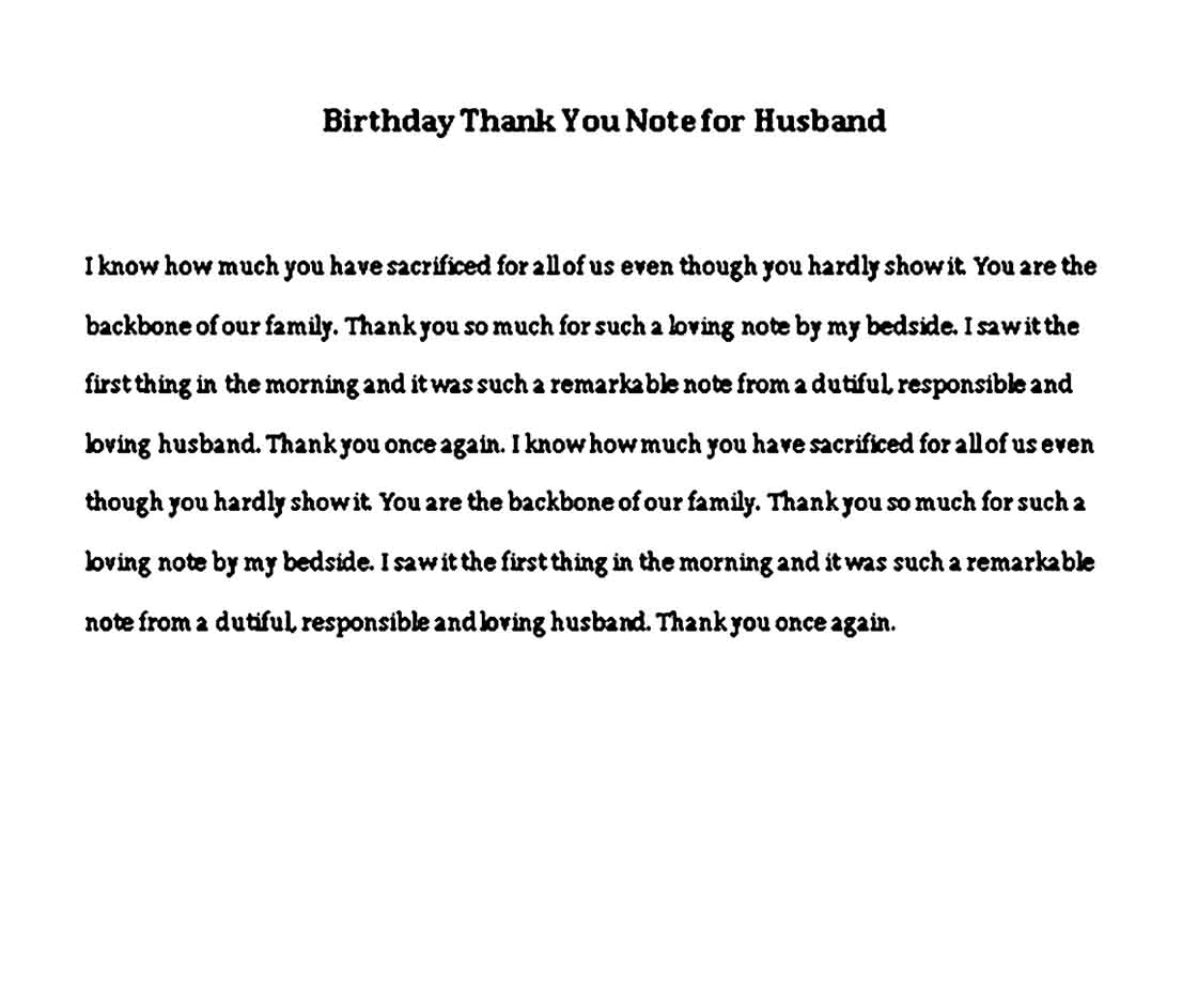 birthday thank you note for husband