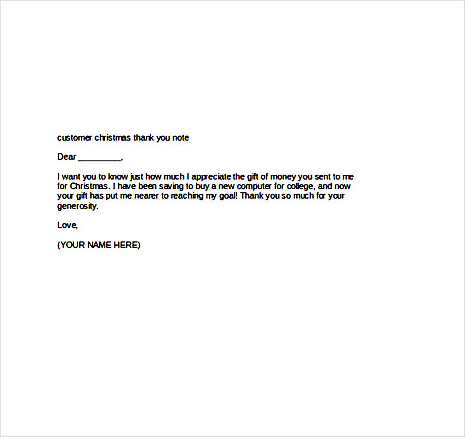 customer christmas thank you note