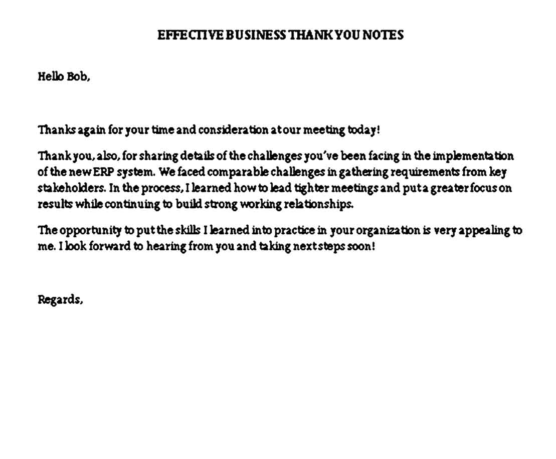 effective business thank you notes
