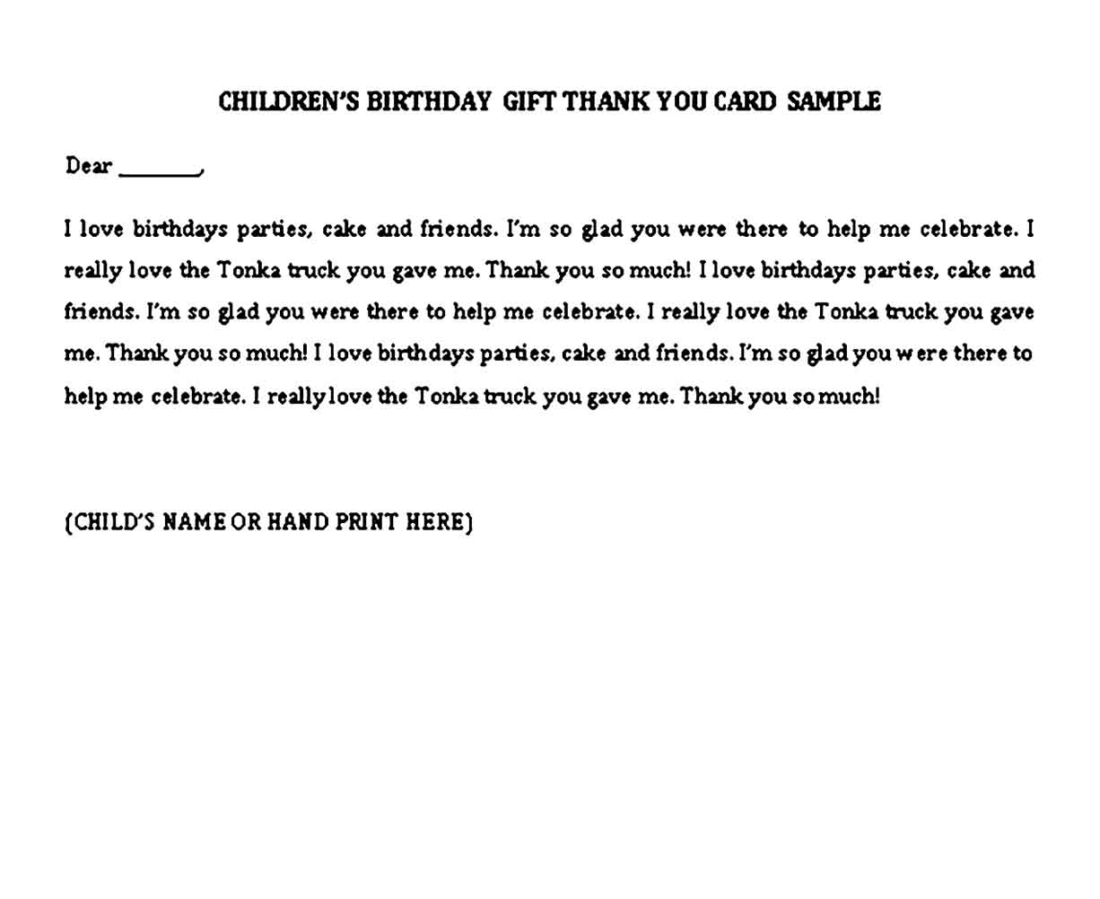thank you note for birthday gift