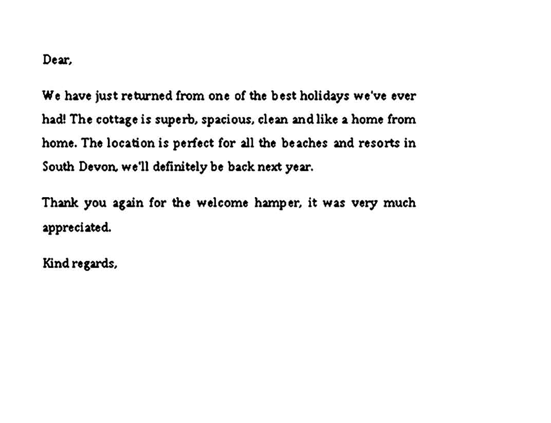 thank you note for dinner after baby