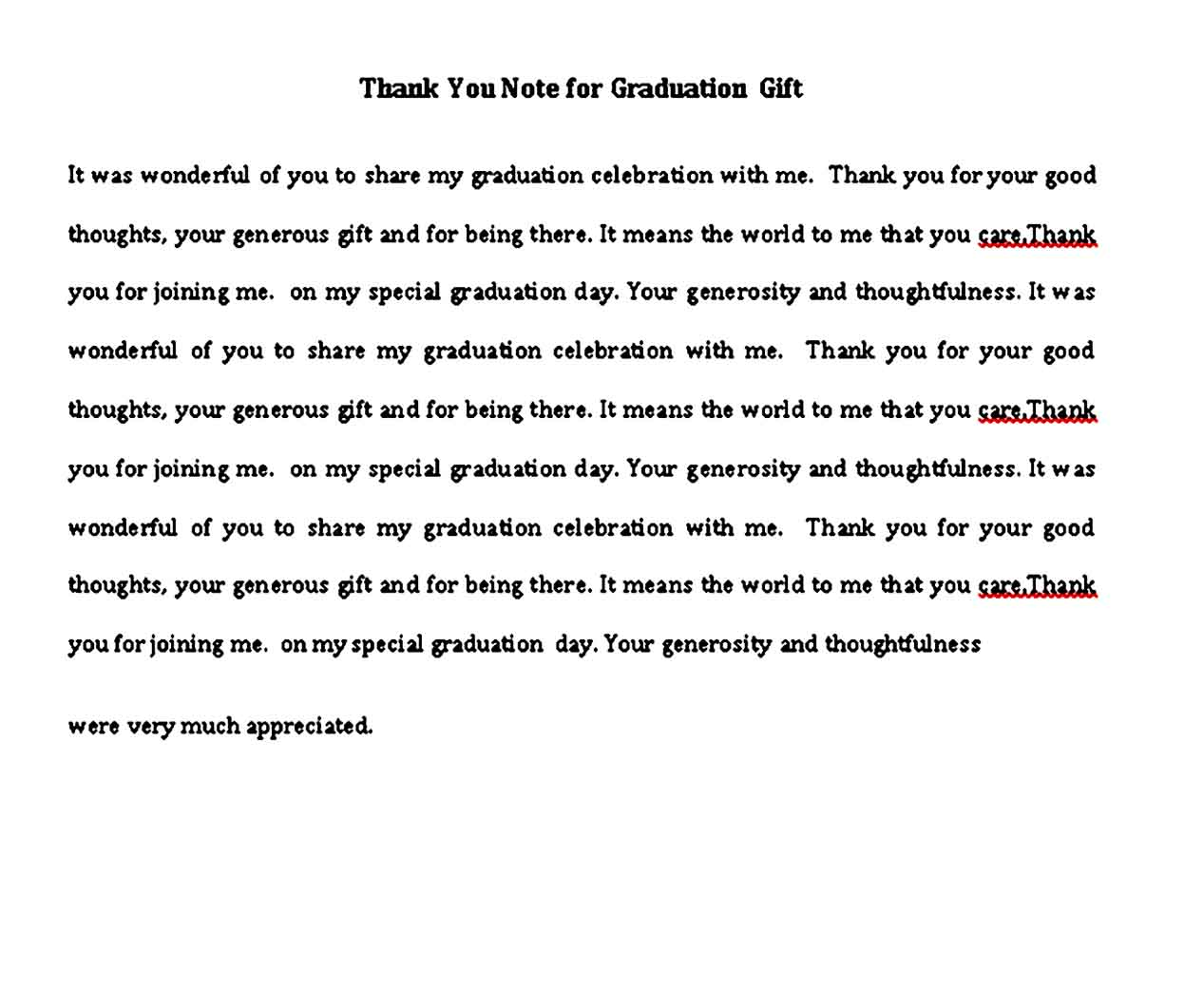 thank you note for graduation gift