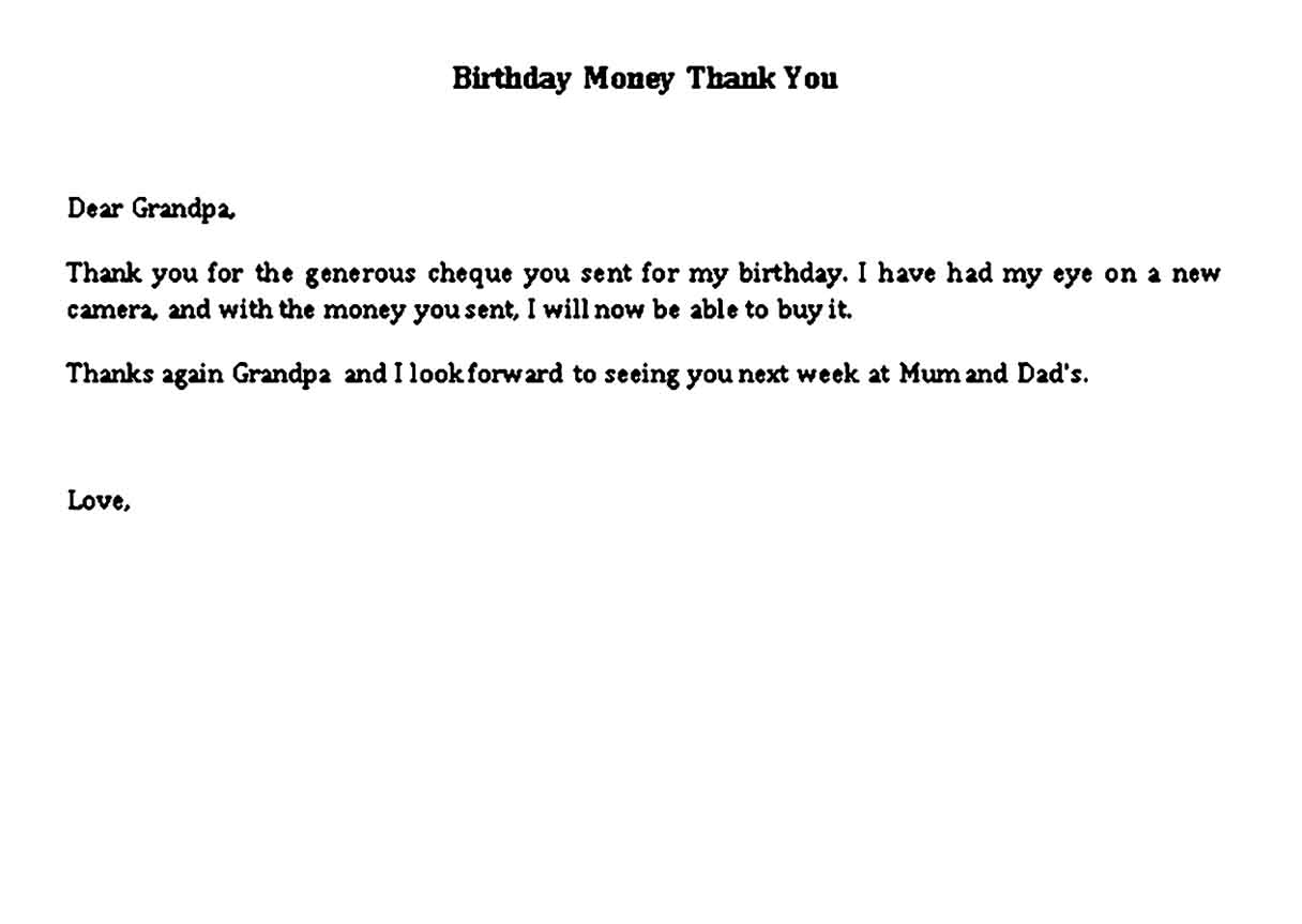 thank you note for money for baby