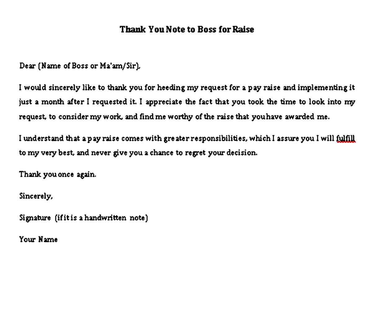 thank you note to boss for raise