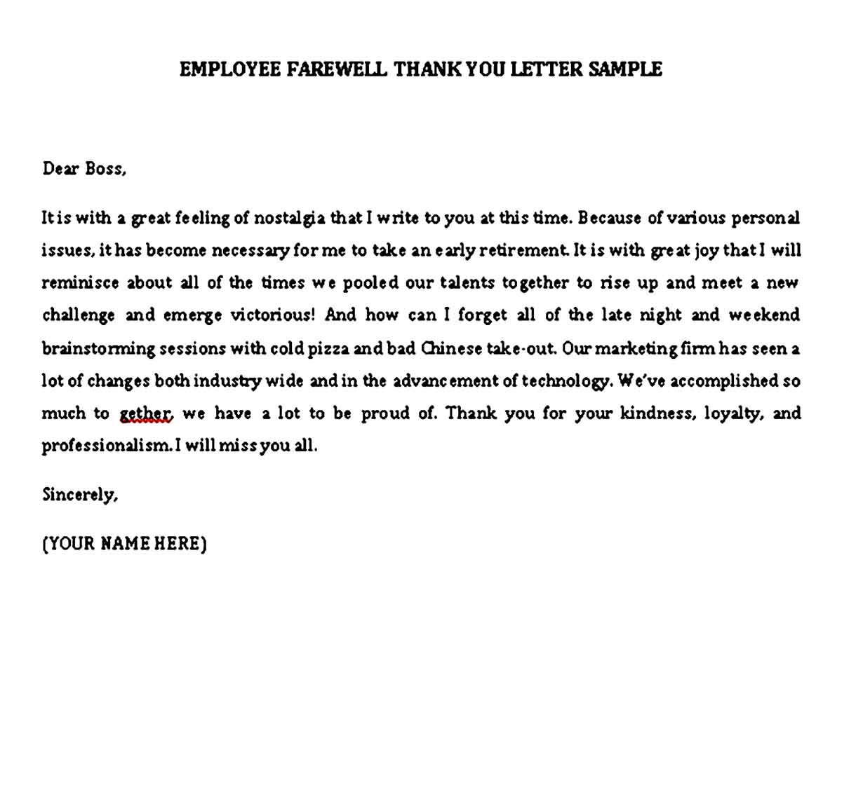 thank you note to boss when leaving job