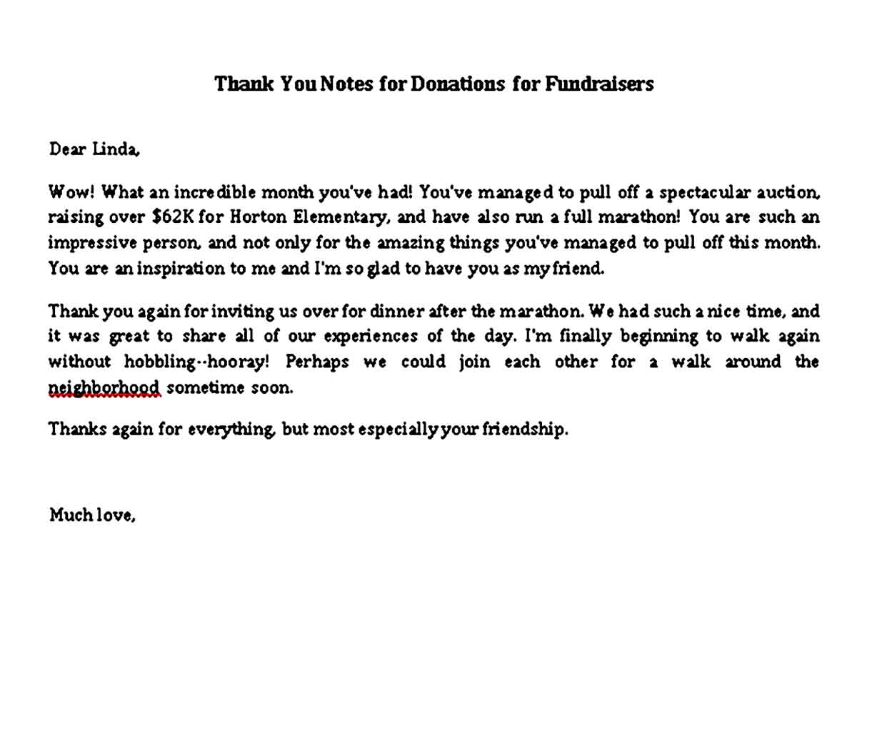 thank you notes for donations for fundraisers