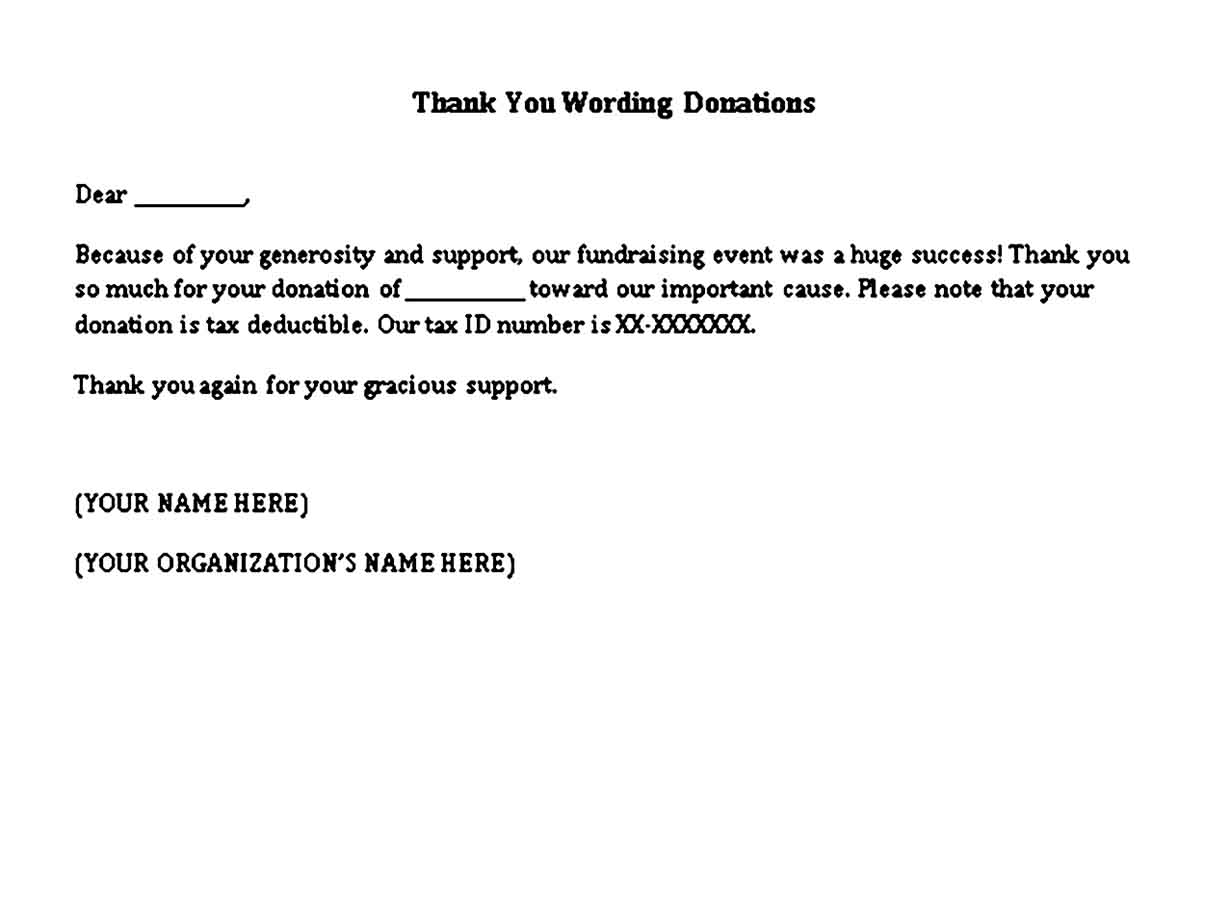 thank you wording donations