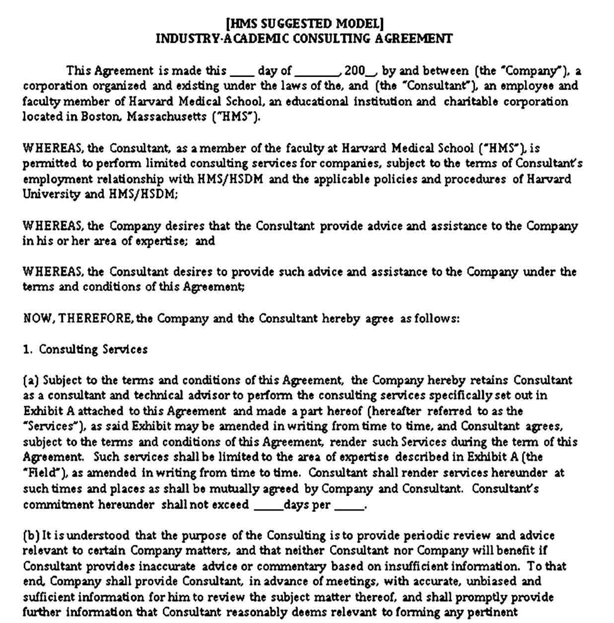 Consultant Work Agreement Template