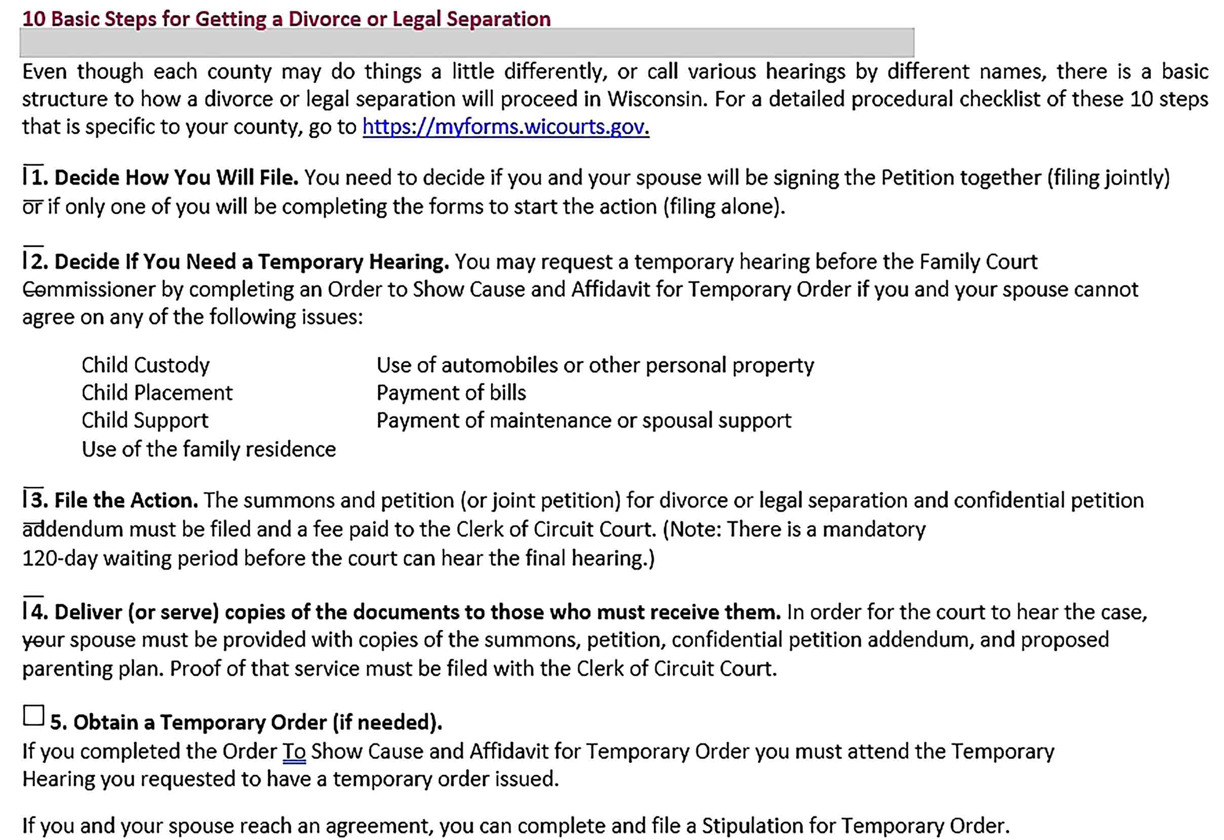 Sample Divorce Agreement Format