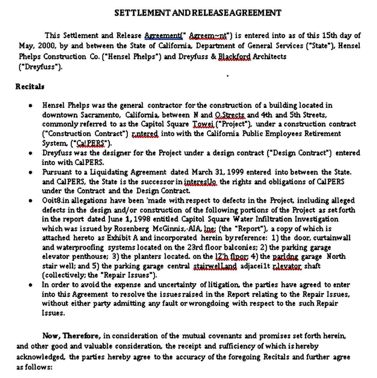Settlement and Release Agreement Format