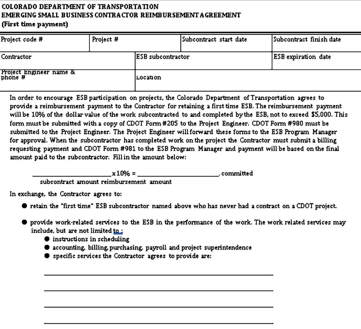Small Business Contractor Agreement
