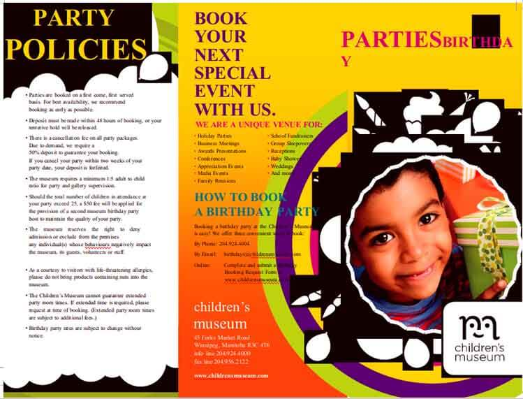 Templates Birthday Party Policies Itinerary Example