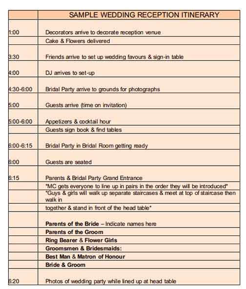 Templates Event Schedule Example 1