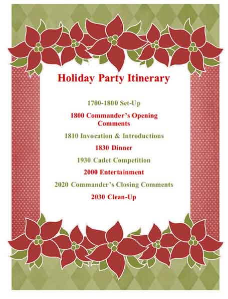 Templates Holiday Party Example