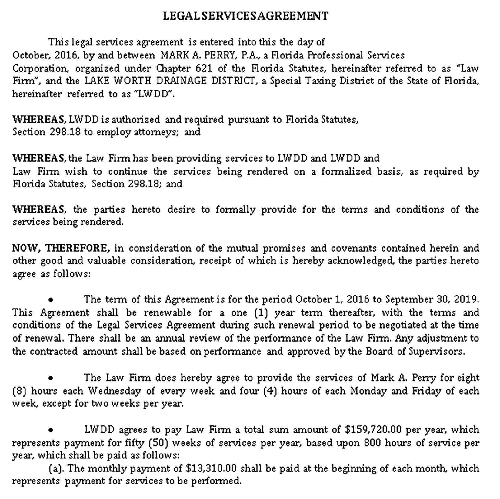 Templates Printable Legal Services Agreement Sample