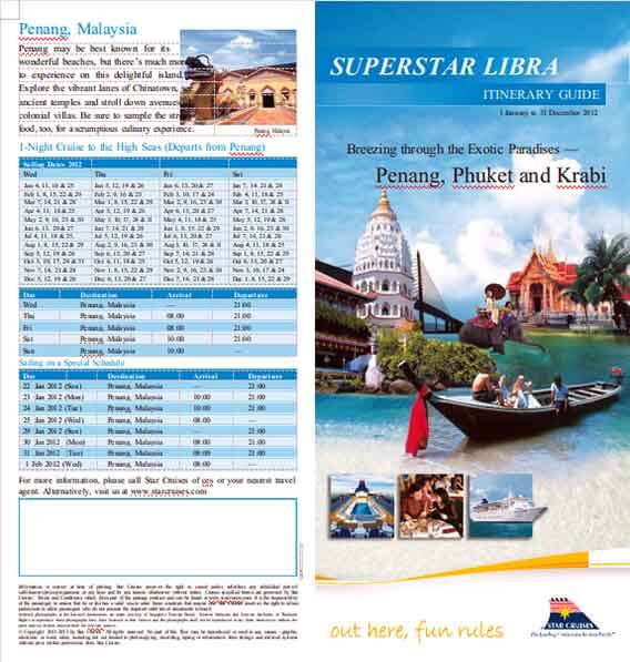 Templates Superstar Libra Cruise Itinerary Example