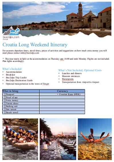 Templates Weekend Travel Example
