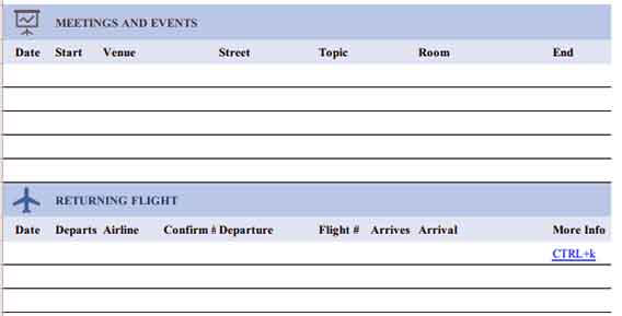 Templates travel itinerary 1 2 Example