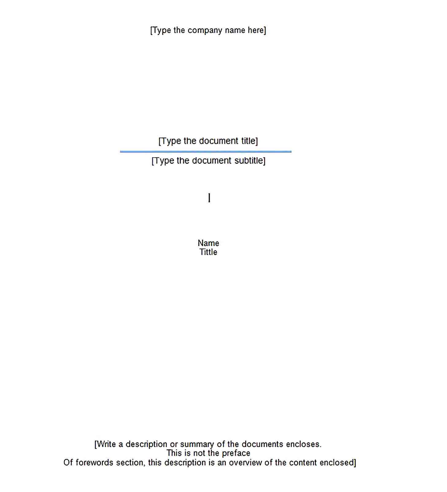 Free Report Cover Template