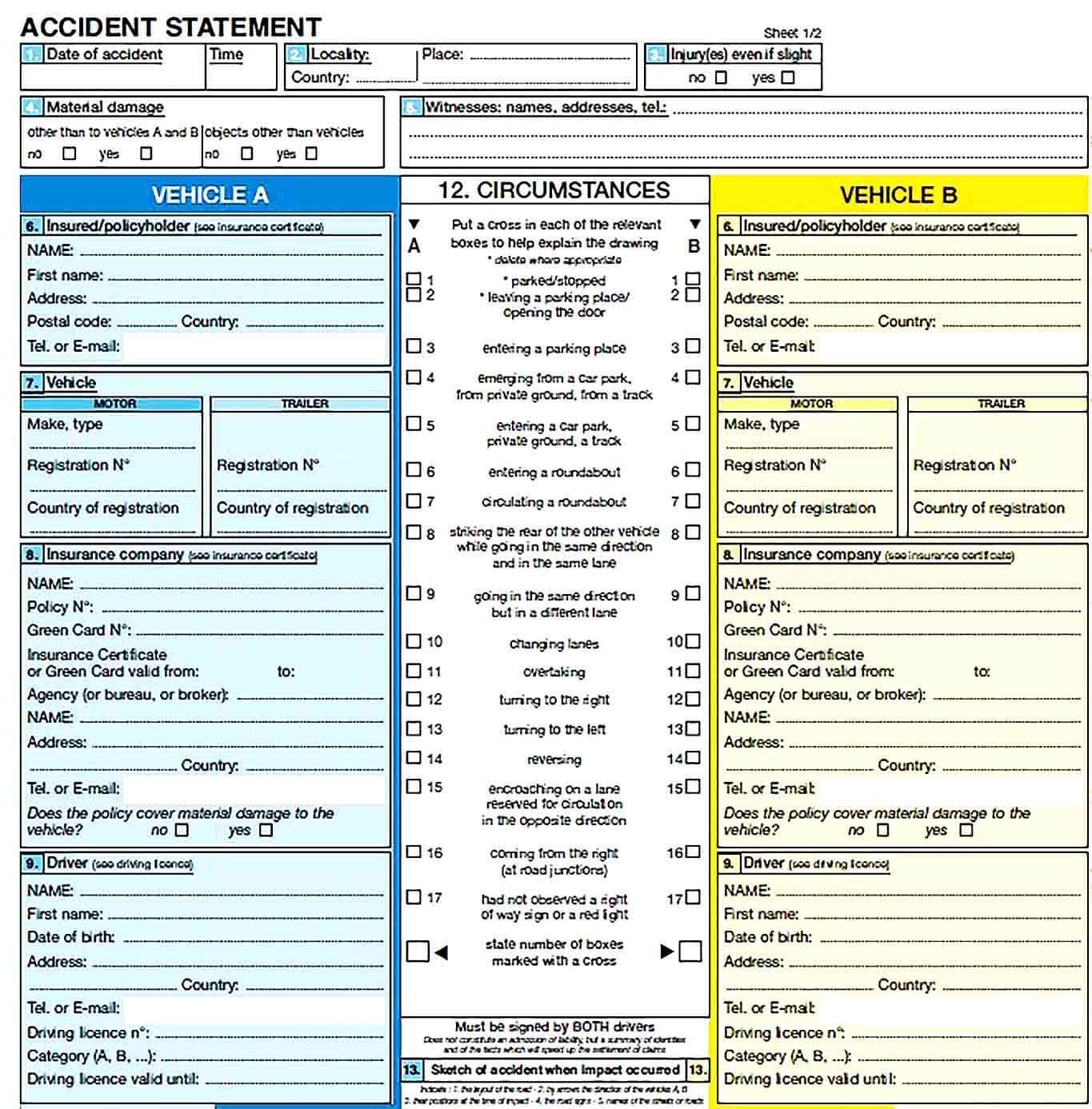 Sample Accident Report Template Sample