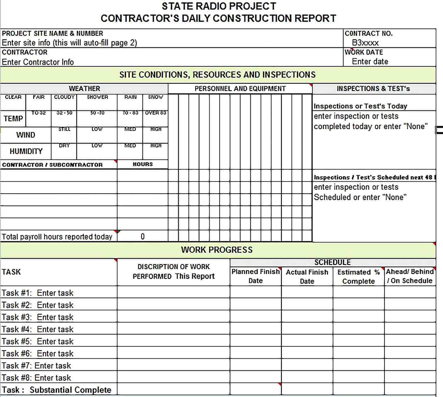 Payroll Report Template Excel Database