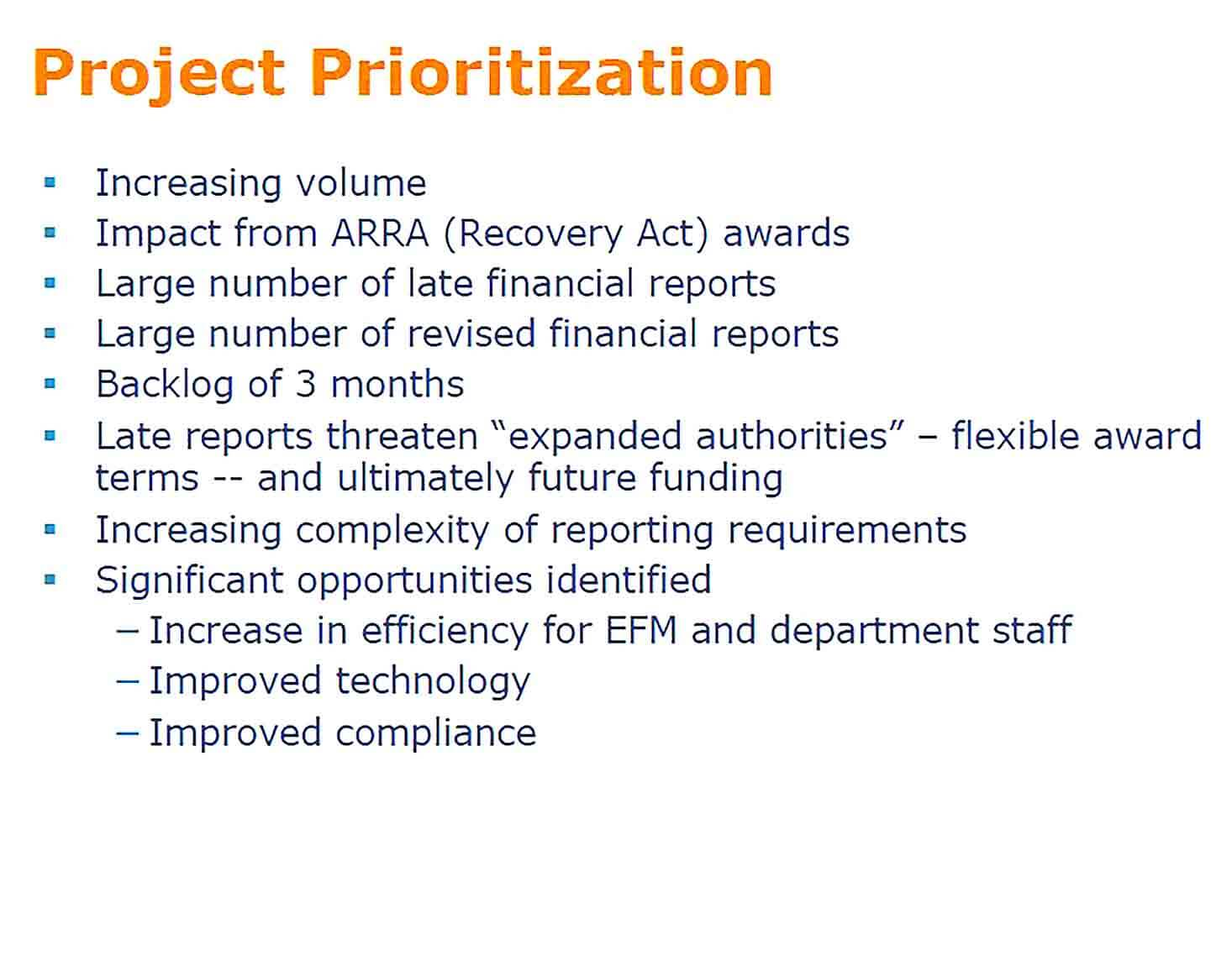 Sample Financial Project Report Format