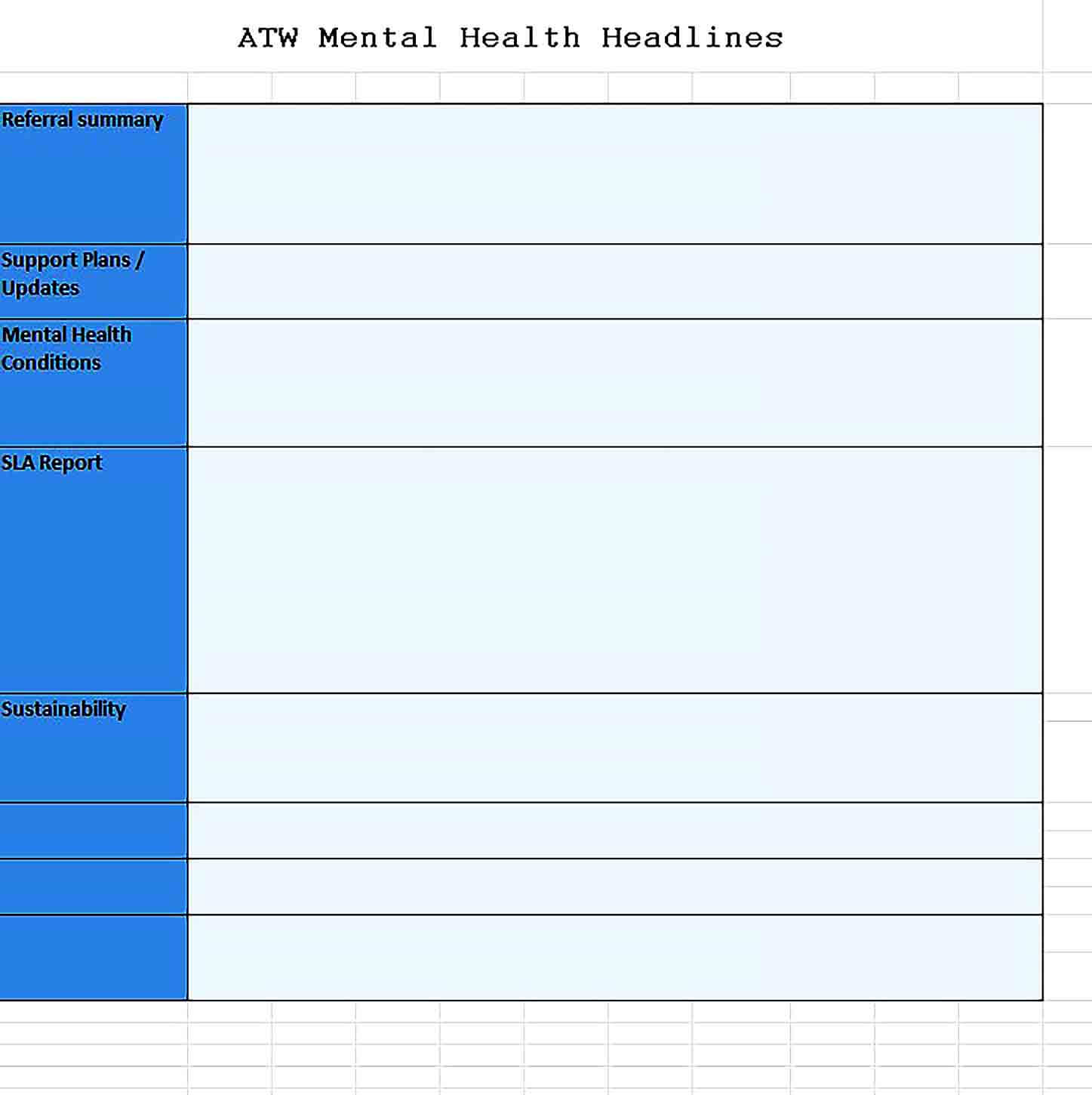 Sample Health Monthly Management Excel Report Template